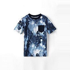 Lands' End - Blue boys' galaxy printed tee