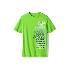 Lands' End - Green boys' short sleeve active graphic tee