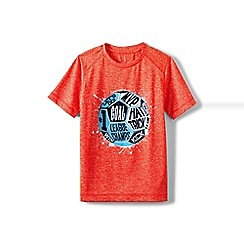 Lands' End - Boys' orange short sleeve active graphic tee