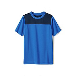 Lands' End - Blue boys' short sleeve colourblock active tee