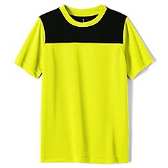 Lands' End - Yellow boys' short sleeve colourblock active tee