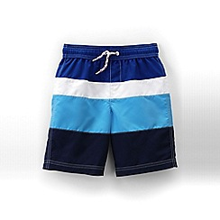 Lands' End - Blue boys' colorblock swim trunk