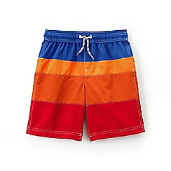 Lands' End - Red boys' colorblock swim trunk