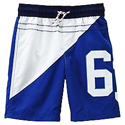 Lands' End - Blue boys' applique swimming trunks