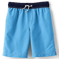 Lands' End - Boys Toddler Blue swim shorts