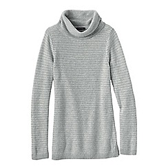Lands' End - Grey women's cosy blend birdseye cowl neck sweater