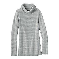 Lands' End - Grey women's cosy blend birdseye cowl neck sweater