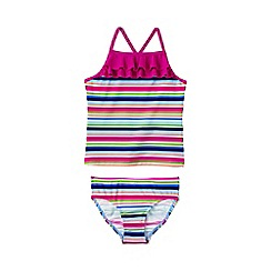 Lands' End - Girls' multicoloured pretty polynesia ruffle tankini