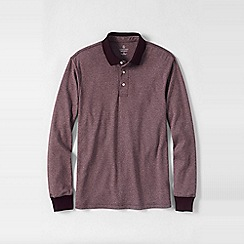 Lands' End - Grey men's jaspé supima polo