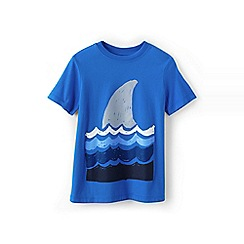 Lands' End - Blue boys' short sleeve graphic tee