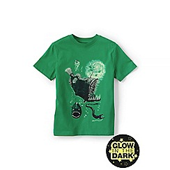 Lands' End - Green boys' glow-in-the-dark graphic tee