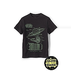 Lands' End - Boys' Black glow-in-the-dark graphic tee