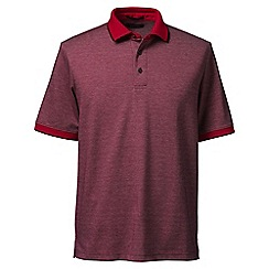 Lands' End - Red tipped birdseye supima polo