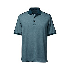 Lands' End - Green tipped birdseye supima polo