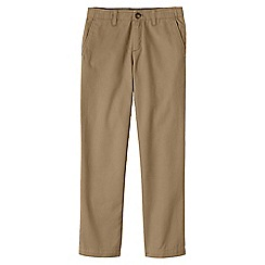 Lands' End - Beige boys' iron knee cadet trousers