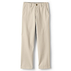 Lands' End - Boys' beige iron knee cadet trousers