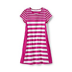 Lands' End - Pink girls' a-line colourblock dress