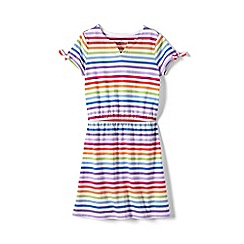 Lands' End - Multi girls' capped sleeve patterned dress