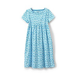 Lands' End - Blue girls' square neck dress