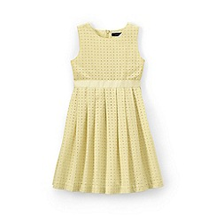 Lands' End - Yellow girls' broderie anglaise dress