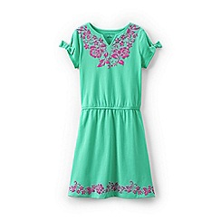 Lands' End - Green girls' embellished dress