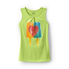 Lands' End - Yellow girls' graphic vest top
