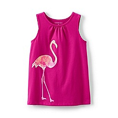 Lands' End - Pink girls' graphic vest top