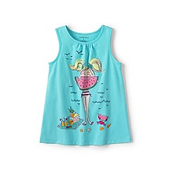 Lands' End - Blue girls' graphic vest top