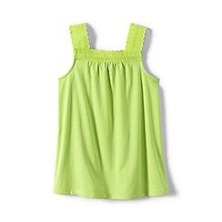 Lands' End - Green girls' lace trim vest top