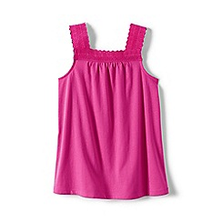 Lands' End - Purple girls' lace trim vest top