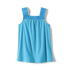 Lands' End - Blue girls' lace trim vest top