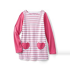 Lands' End - Pink girls' a-line legging top