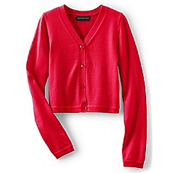 Lands' End - Girls' pink sophie cardigan