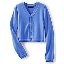 Lands' End - Girls' bright blue sophie cardigan