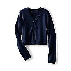 Lands' End - Girls' blue sophie cardigan
