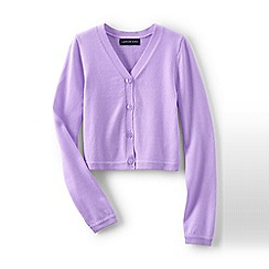 Lands' End - Purple girls' sophie cardigan