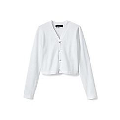 Lands' End - Girls' white sophie cardigan