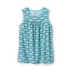 Lands' End - Blue girls' patterned jersey vest top