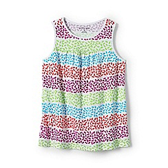 Lands' End - Girls' multicoloured patterned jersey vest top