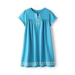Lands' End - Blue girls' notch neck legging top