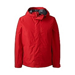 Lands' End - Red tall packable waterproof jacket