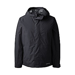 Lands' End - Black tall packable waterproof jacket