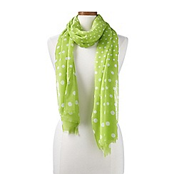 Lands' End - Green spot print scarf