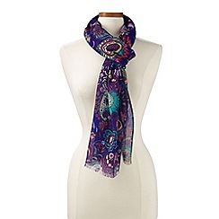Lands' End - Blue soft royal dillon paisley scarf