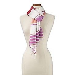 Lands' End - Pink variegated stripe scarf