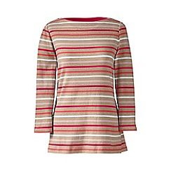 Lands' End - Beige boatneck rib top