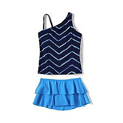 Lands' End - Blue girls' tankini swim set
