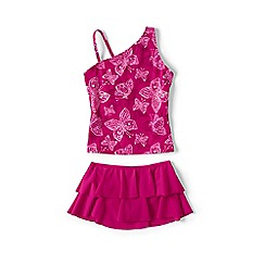 Lands' End - Pink girls' tankini swim set