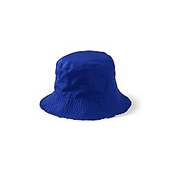 Lands' End - Boys' blue reversible sun hat
