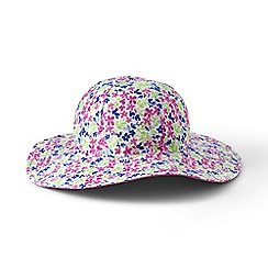 Lands' End - Pink girls' reversible sun hat